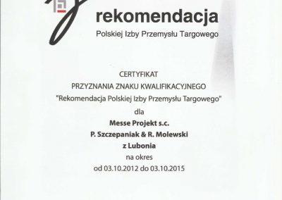 Referencja Rekomendacja Polskiej Izby Przemysłu Targowego
